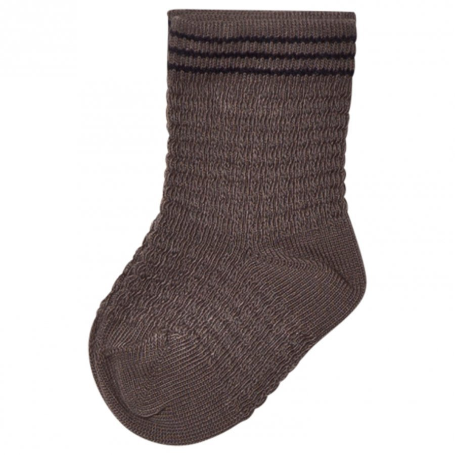 Noa Noa Miniature Pique Ankle Socks Steeple Grey Sukat