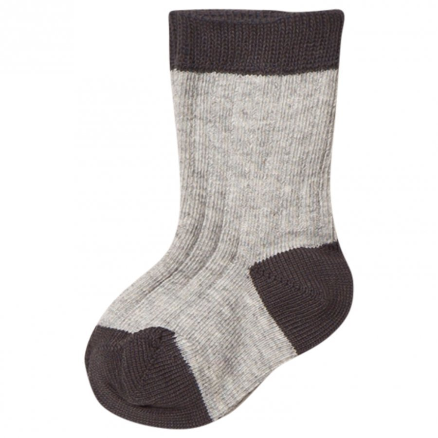 Noa Noa Miniature Rib Ankle Socks Light Grey Sukat