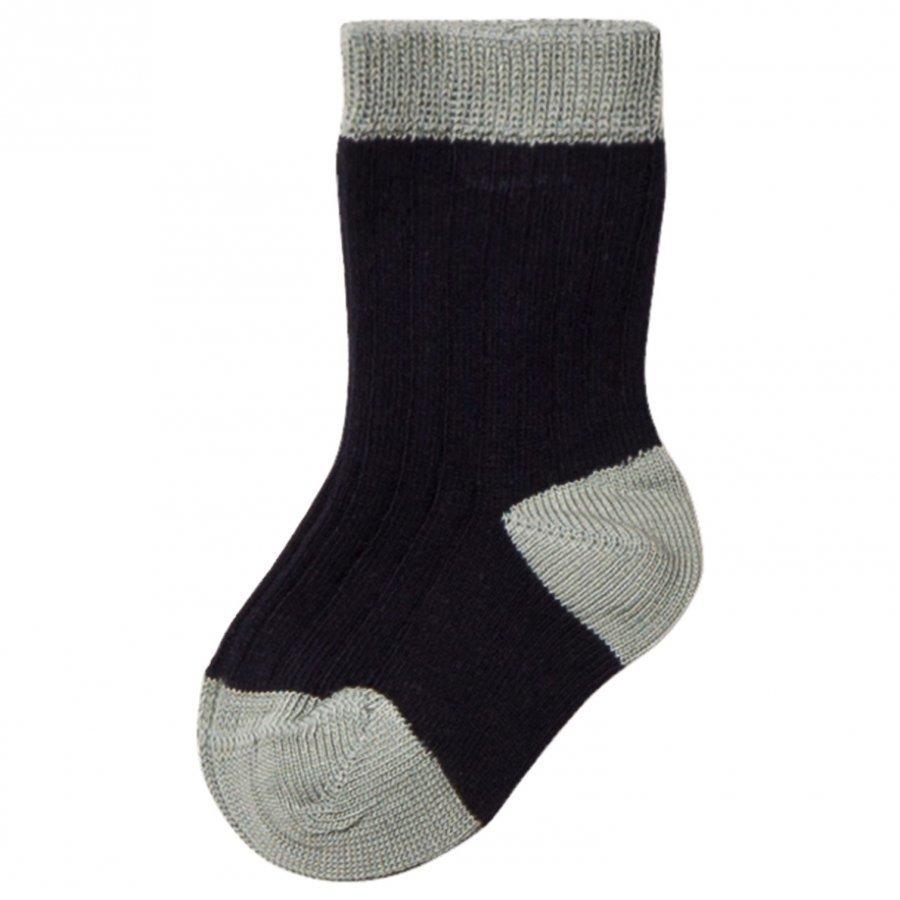 Noa Noa Miniature Rib Ankle Socks Navy Sukat