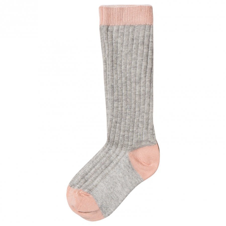 Noa Noa Miniature Rib Knee Socks Light Grey Sukat