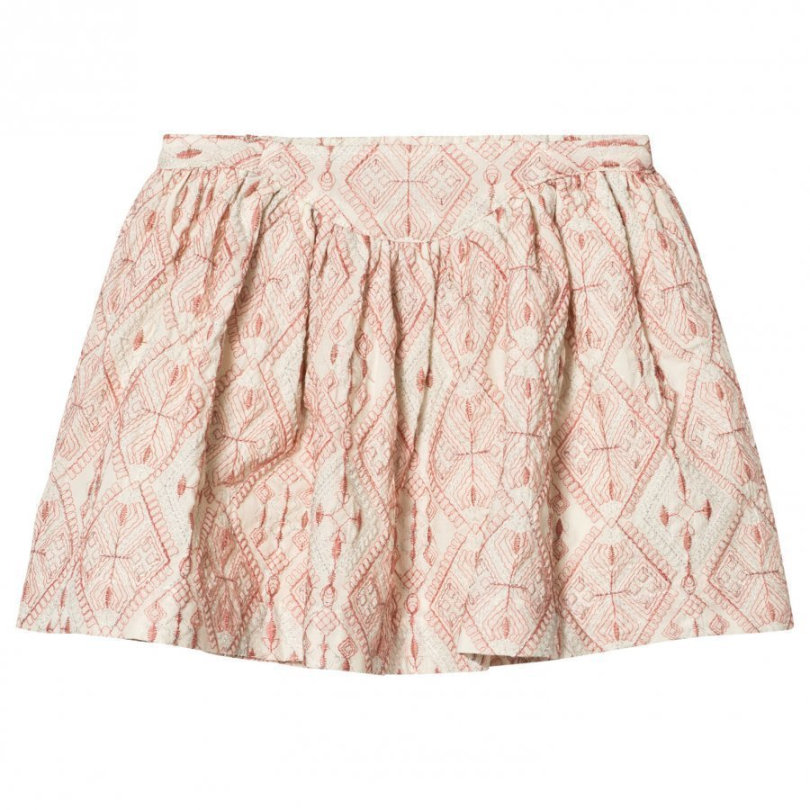 Noa Noa Miniature Skirt With Embroidered Pattern Chalk Midihame