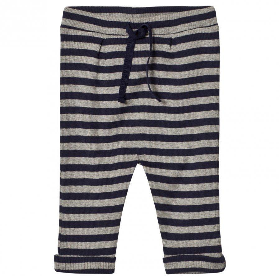 Noa Noa Miniature Stripe Pants Grey/Navy Housut