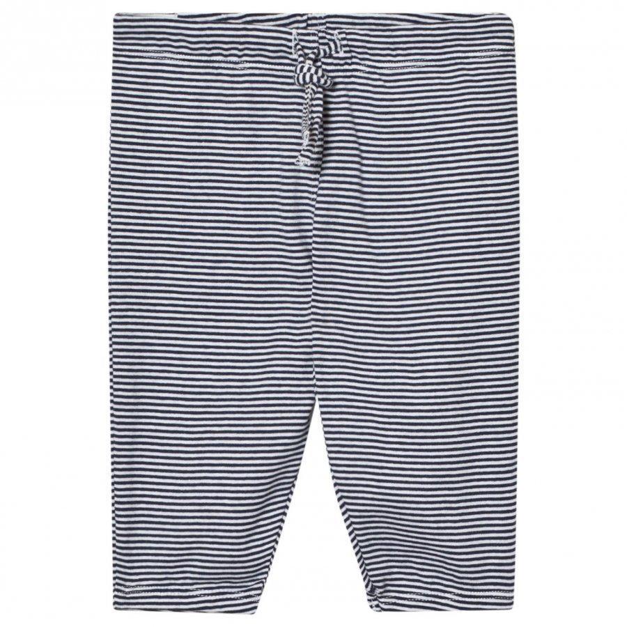 Noa Noa Miniature Stripe Pants White/Navy Housut