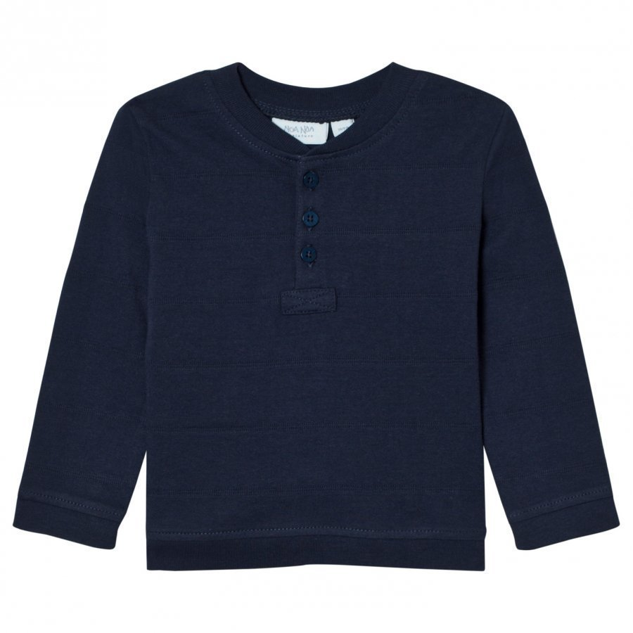 Noa Noa Miniature Win Jersey Top Blue Pitkähihainen T-Paita
