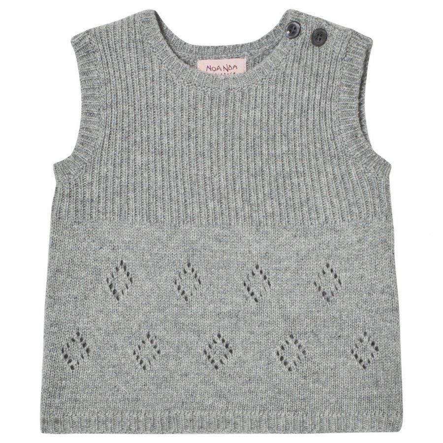 Noa Noa Miniature Wool Knit Vest Grey Neuleliivi