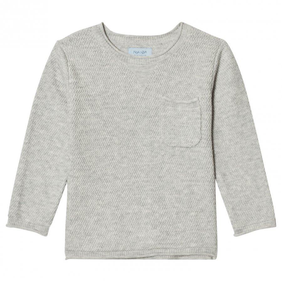 Noa Noa Miniature Zig Zag Knit Sweater Grey Pitkähihainen T-Paita