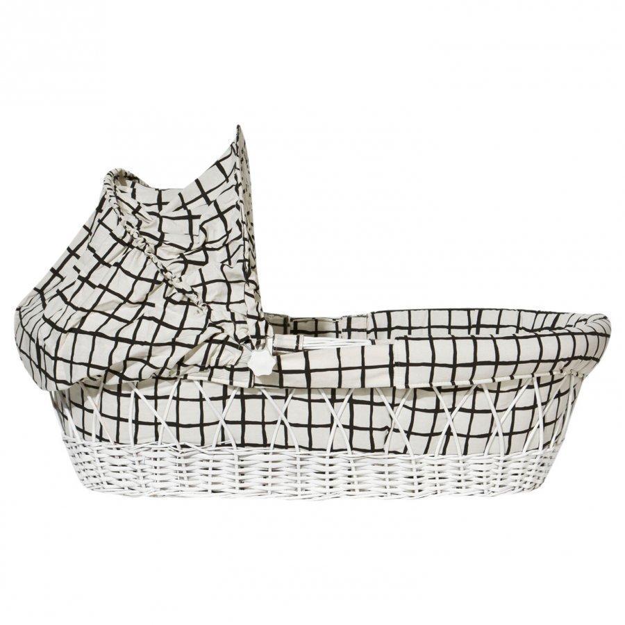 Noe & Zoe Berlin Baby Basket Black Grid Vauvakori