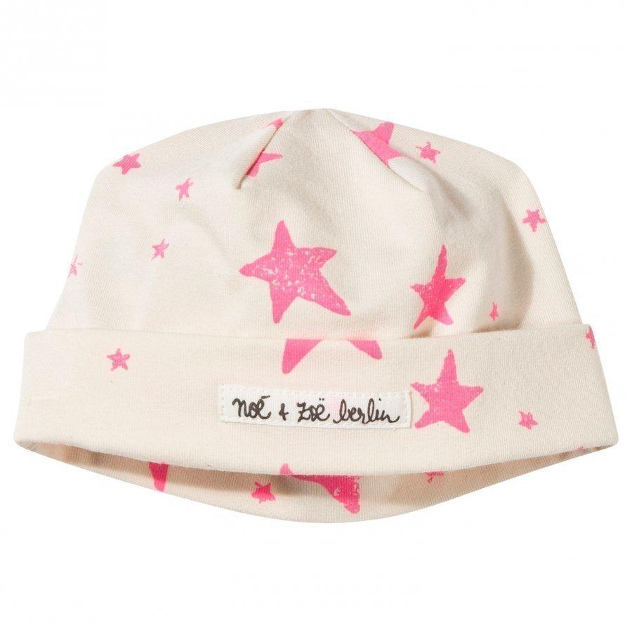 Noe & Zoe Berlin Baby Beanie Neon Pink Stars Pipo