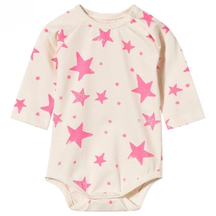 Noe & Zoe Berlin Baby Body In Neon Pink Stars Body