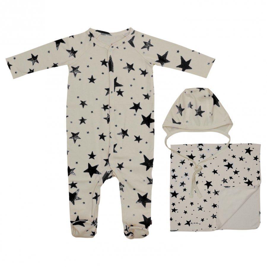 Noe & Zoe Berlin Baby Gift Box Black Stars Lahjasetti