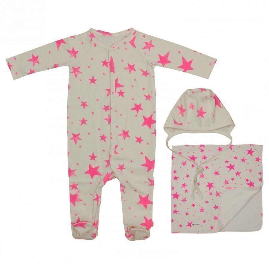 Noe & Zoe Berlin Baby Gift Box Neon Pink Stars Lahjasetti