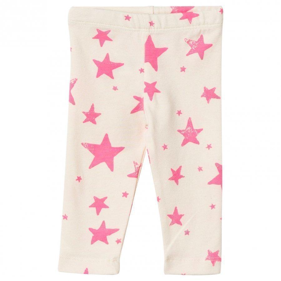 Noe & Zoe Berlin Baby Leggings Neon Pink Stars Legginsit