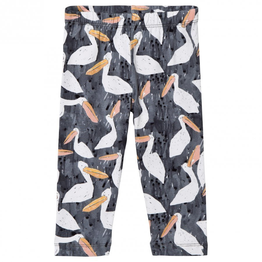 Noe & Zoe Berlin Black Stork Printed Leggings Legginsit