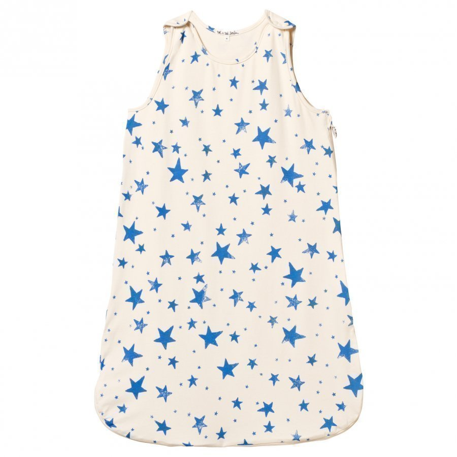 Noe & Zoe Berlin Blue Star Print Sleeping Bag Vauvan Makuupussi