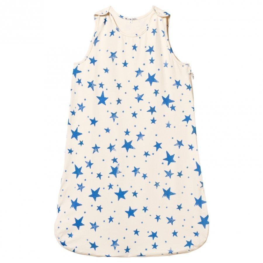Noe & Zoe Berlin Blue Star Print Sleeping Bag Vauvan Makuupussi