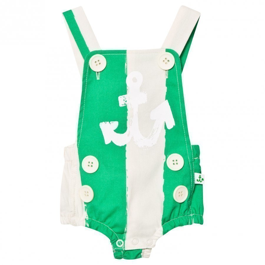 Noe & Zoe Berlin Green Stripe Sailor Romper Puku