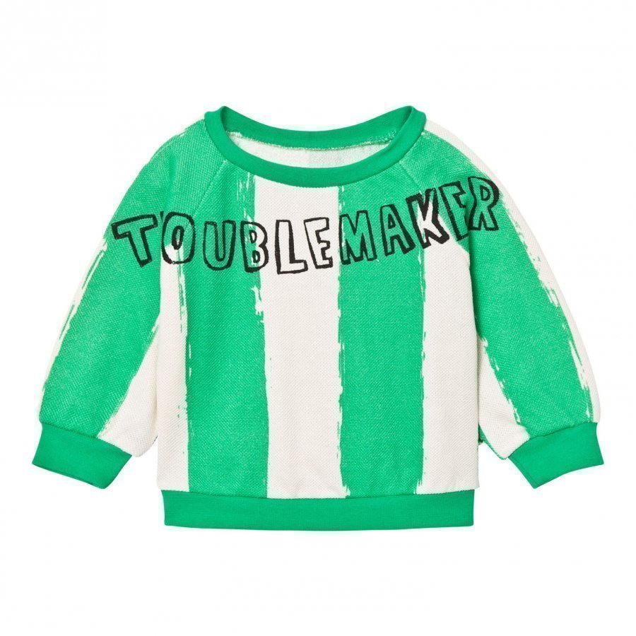 Noe & Zoe Berlin Green Stripe Troublemaker Sweatshirt Oloasun Paita