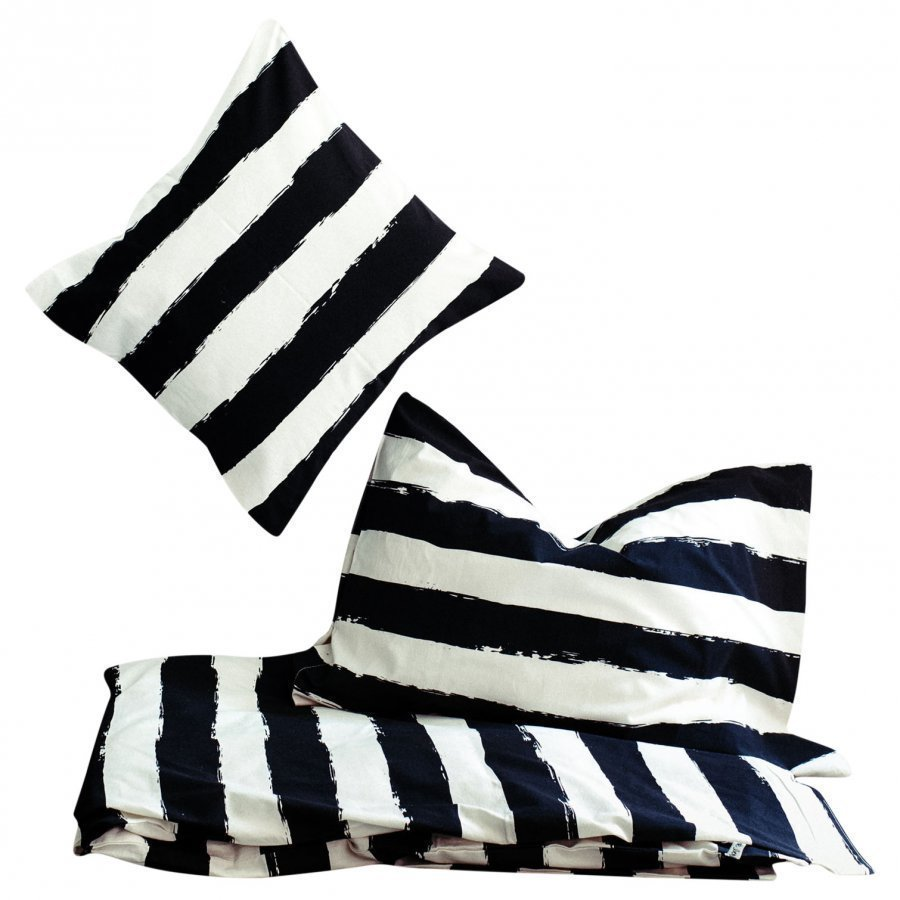 Noe & Zoe Berlin Junior Bedding Black Stripes Xl Pussilakanasetti