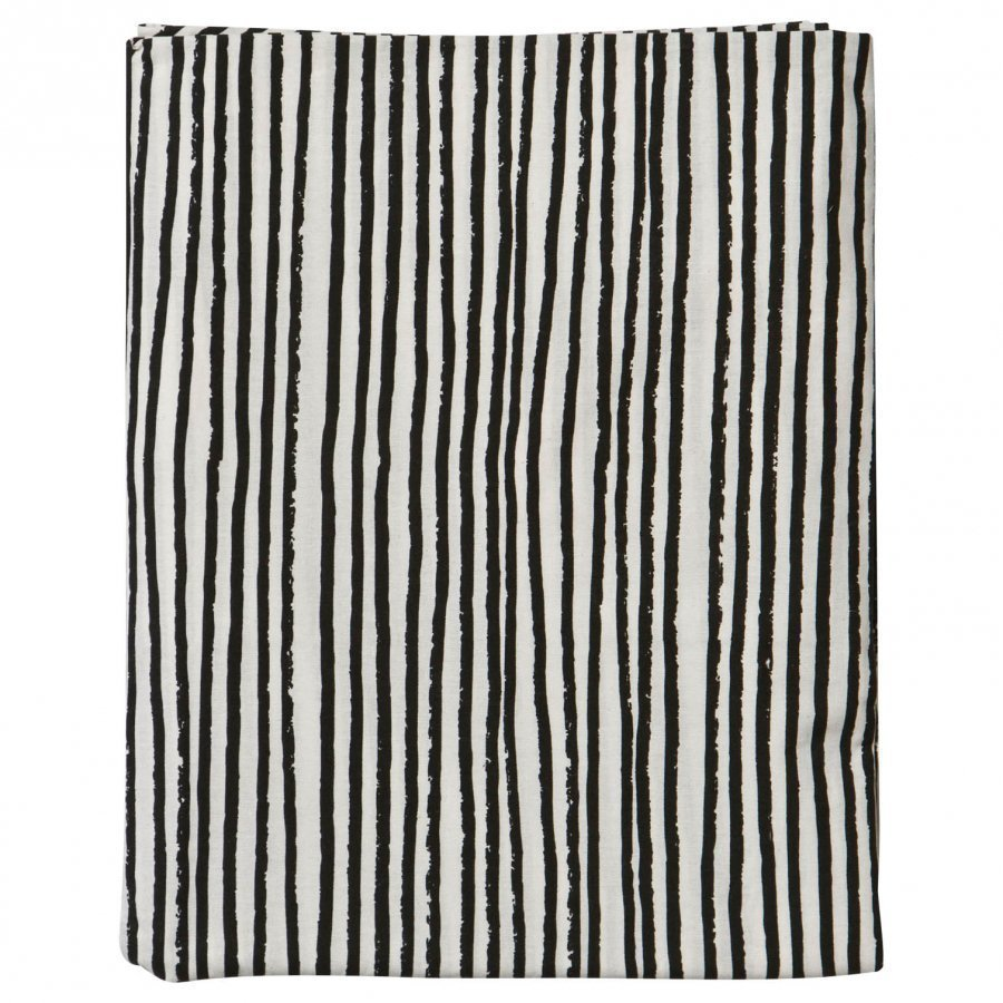 Noe & Zoe Berlin Junior Bedsheet Black Stripes Pussilakanasetti