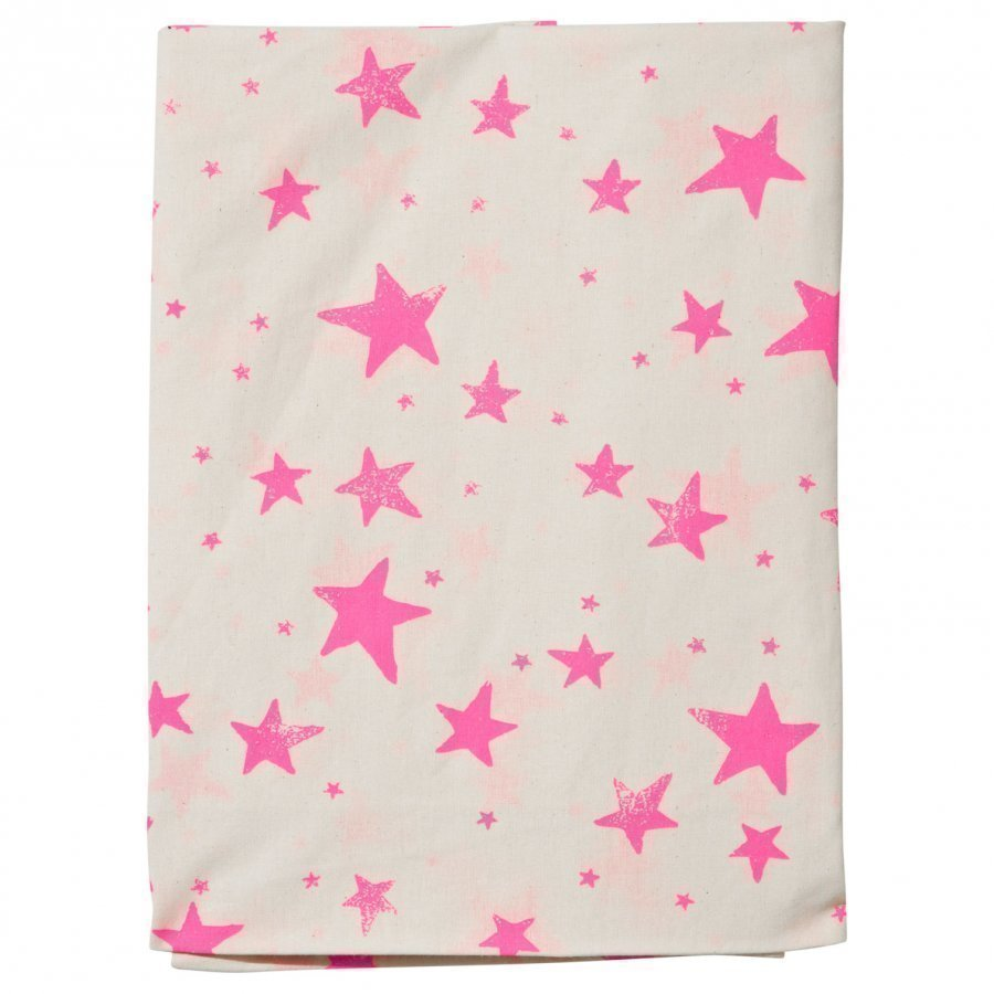 Noe & Zoe Berlin Junior Bedsheet Neon Pink Stars Pussilakanasetti