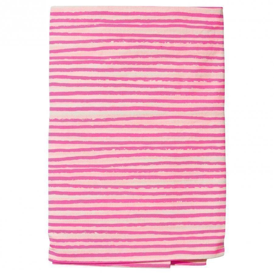 Noe & Zoe Berlin Junior Bedsheet Neon Pink Stripes Pussilakanasetti