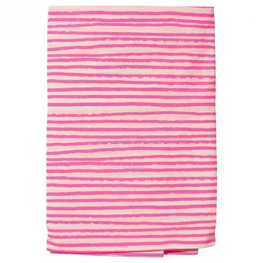 Noe & Zoe Berlin Kids Bedsheet Neon Pink Stripes Pussilakanasetti