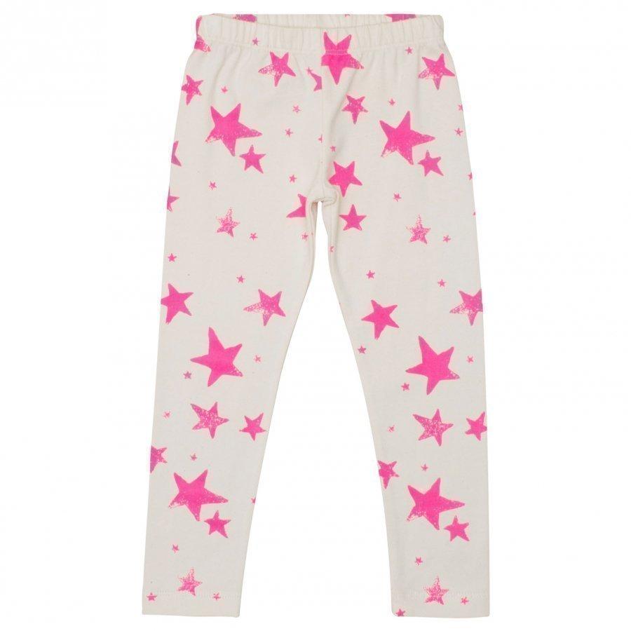 Noe & Zoe Berlin Kids Leggings Neon Pink Stars Legginsit