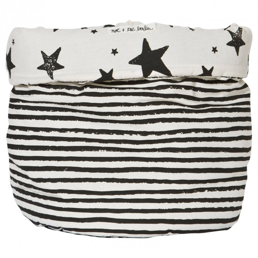Noe & Zoe Berlin Large Storage Basket Black Stars & Stripes Säilytyslaatikko
