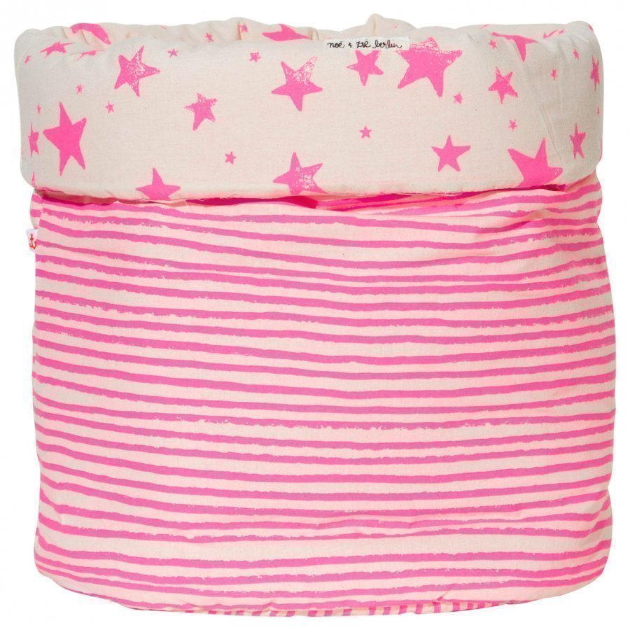 Noe & Zoe Berlin Medium Storage Basket Pink Stars & Stripes Säilytyslaatikko