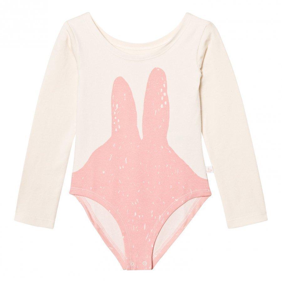 Noe & Zoe Berlin Off White Pink Bunny Print Baby Body Legginsit