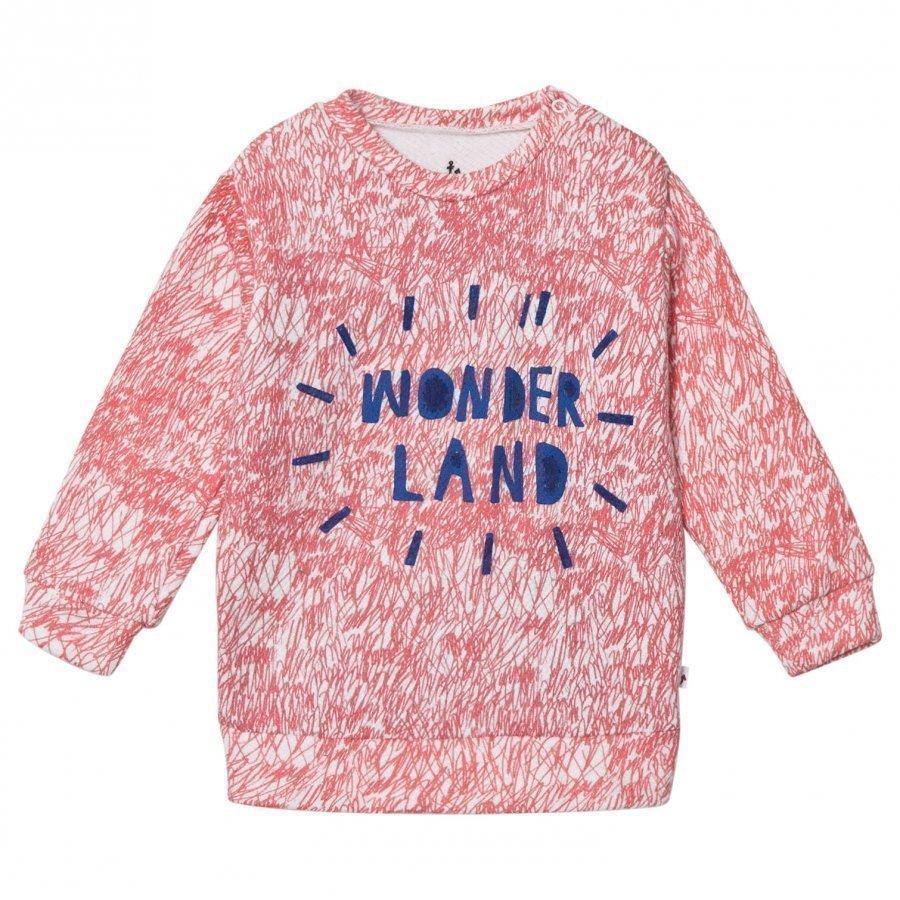 Noe & Zoe Berlin Pink Fur Printed Wonderland Sweater Oloasun Paita