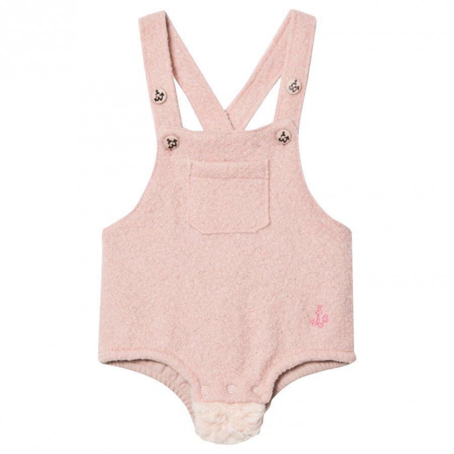 Noe & Zoe Berlin Pink Furry Overalls Romper Puku