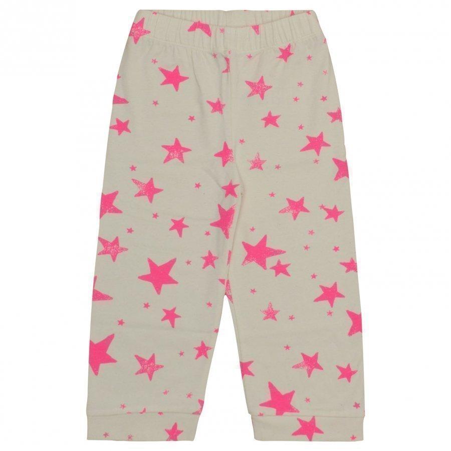 Noe & Zoe Berlin Pj Pants Neon Pink Stars Yöpuku