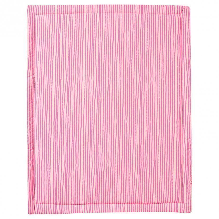 Noe & Zoe Berlin Playmat Retangle Neon Pink Stars & Stripes Matto