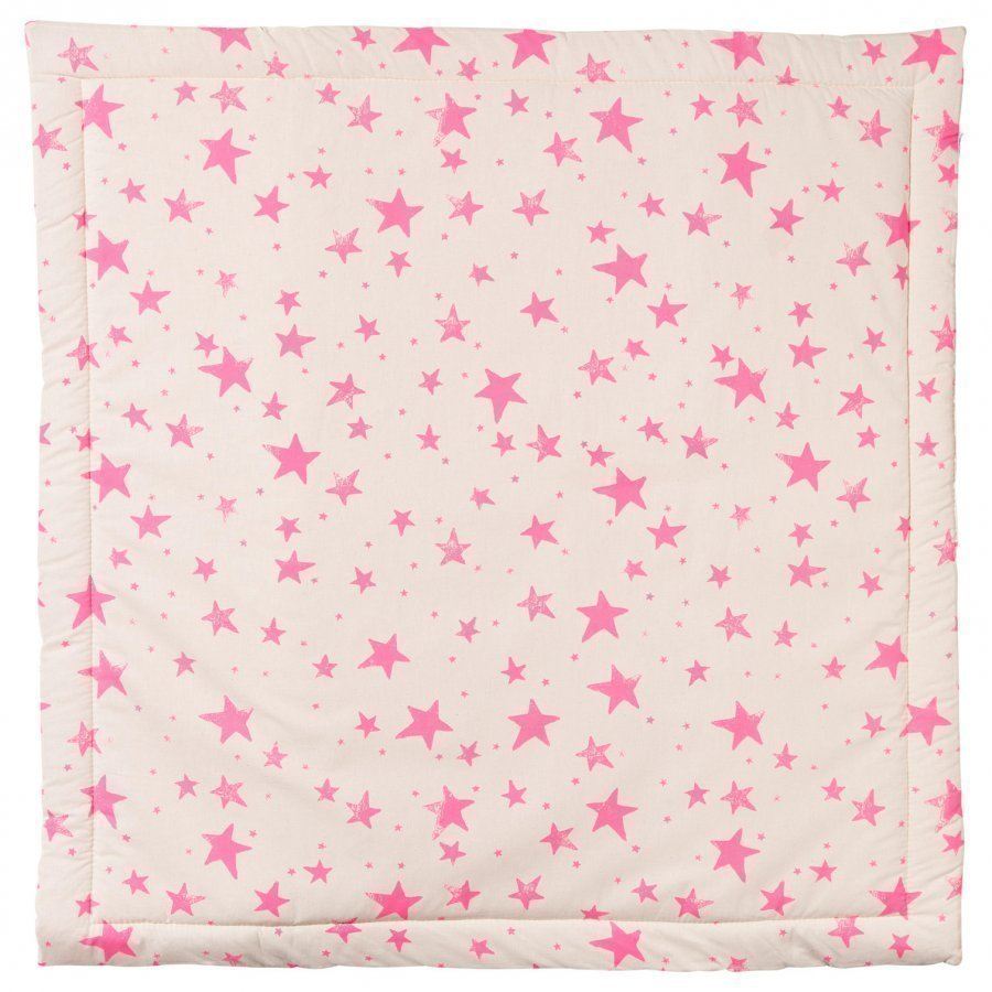 Noe & Zoe Berlin Playmat Square Neon Pink Stars & Stripes Matto
