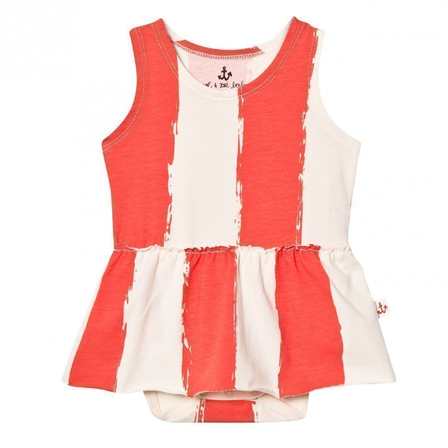 Noe & Zoe Berlin Red Stripe Tank Dress Mekko