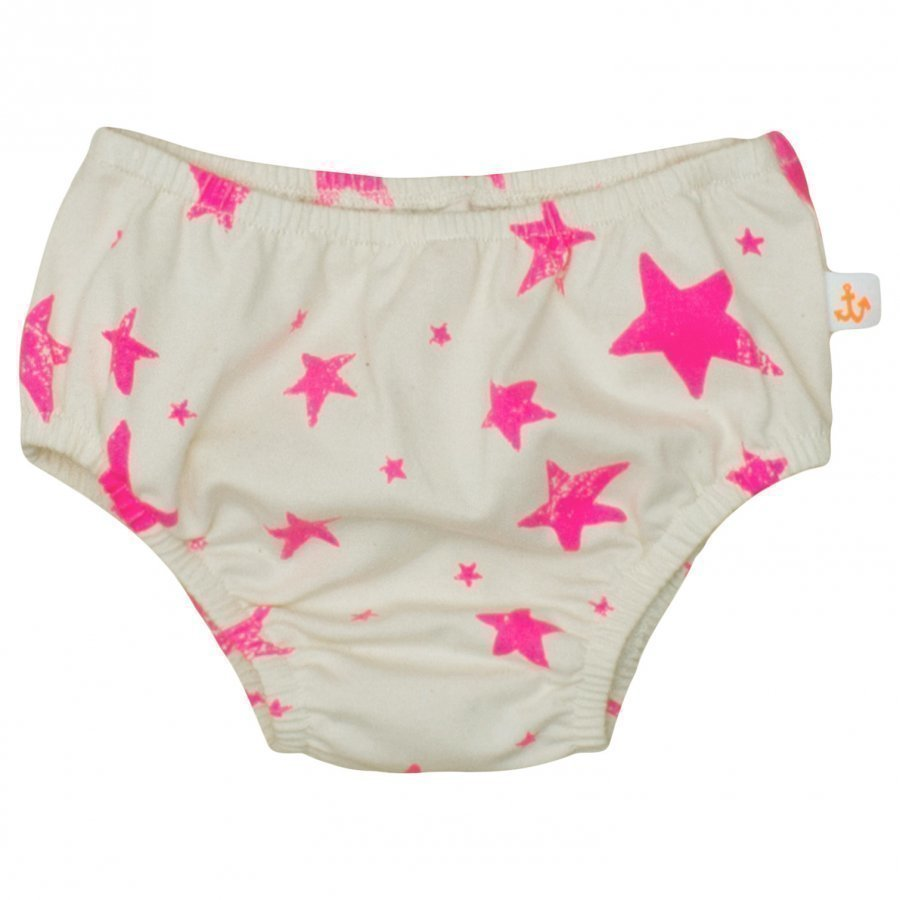 Noe & Zoe Berlin Single Jersey Bloomer Neon Pink Stars Pikkuhousut