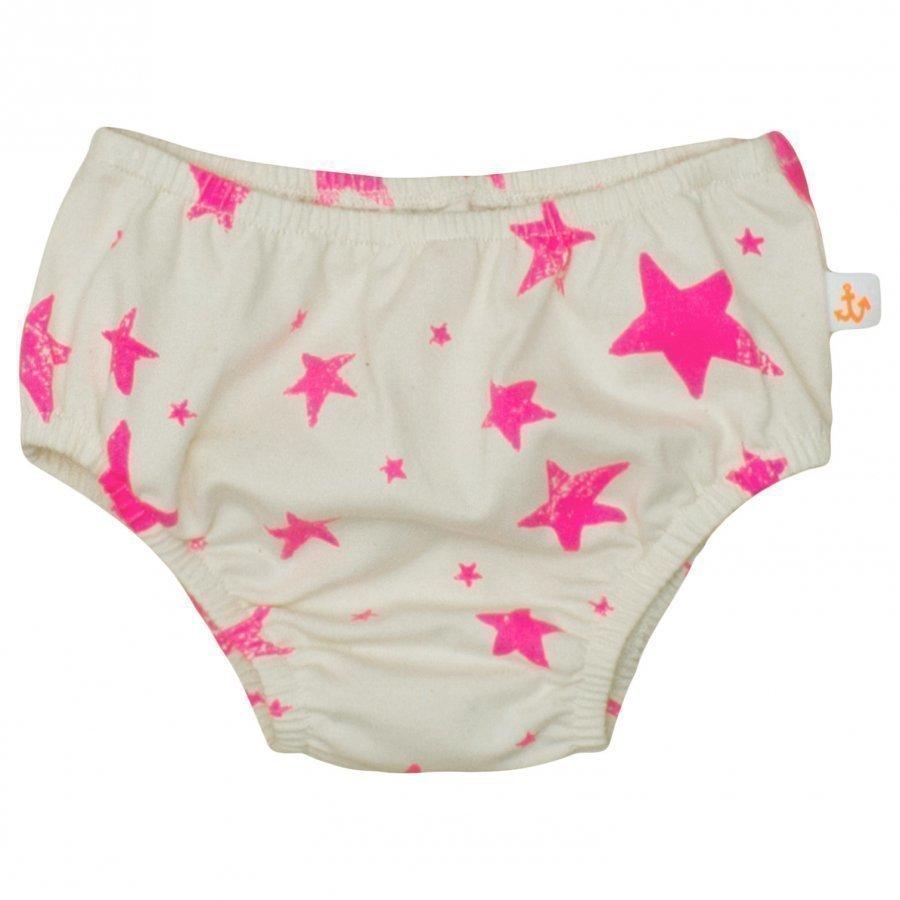 Noe & Zoe Berlin Single Jersey Bloomer Neon Pink Stars Pikkuhousut