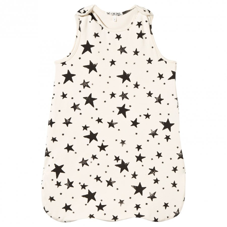 Noe & Zoe Berlin Sleeping Bag Black Stars Vauvan Makuupussi