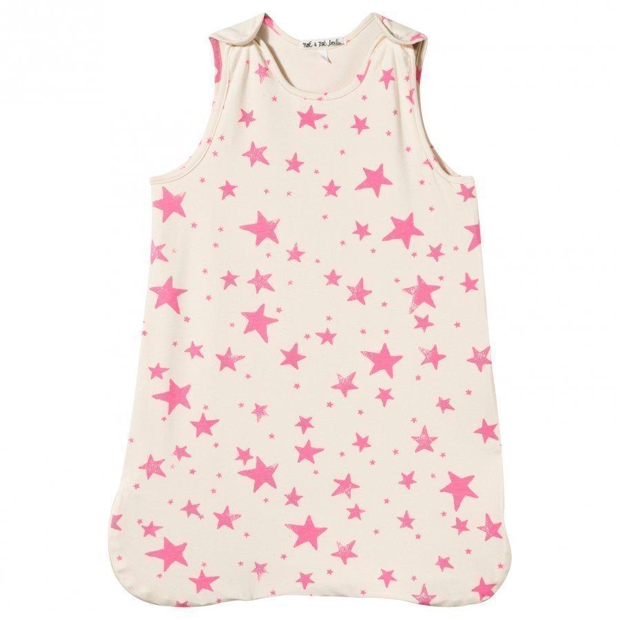 Noe & Zoe Berlin Sleeping Bag Neon Pink Stars Vauvan Makuupussi