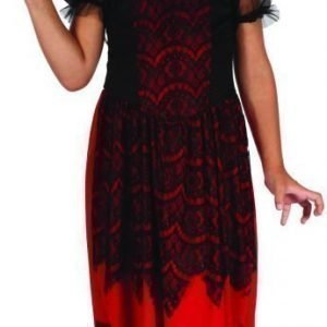 Noidan mekko Naamiaisasu Punainen/Musta