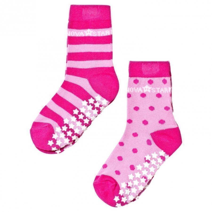 Nova Star 2-Pack Anti-Slip Pink Socks Sukat