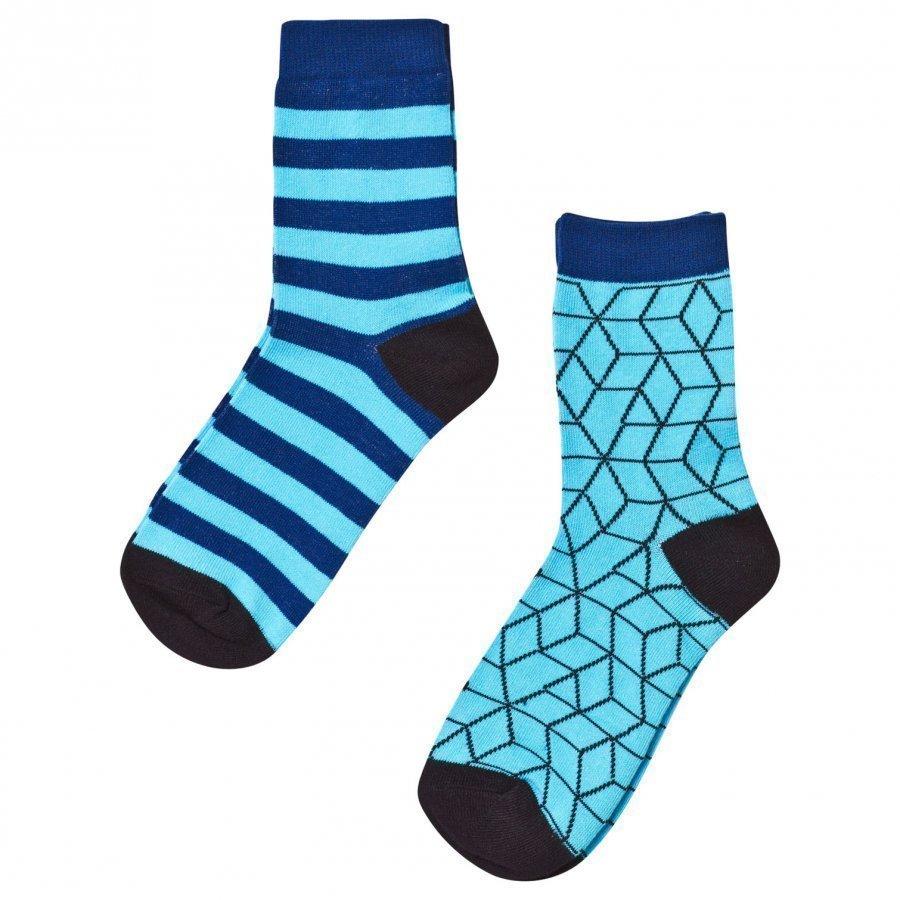 Nova Star 2-Pack Blue Cube Socks Sukat