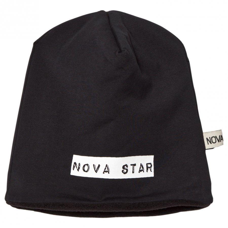 Nova Star Beanie Fleece Lined Night Black Pipo