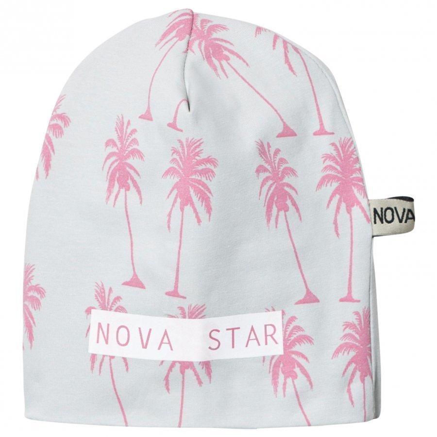 Nova Star Beanie Pink Palms Grey Pipo