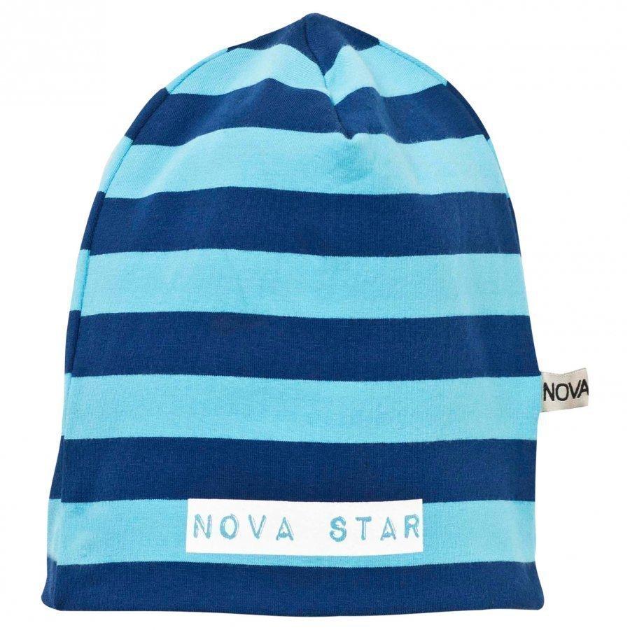 Nova Star Beanie Striped Blue Pipo