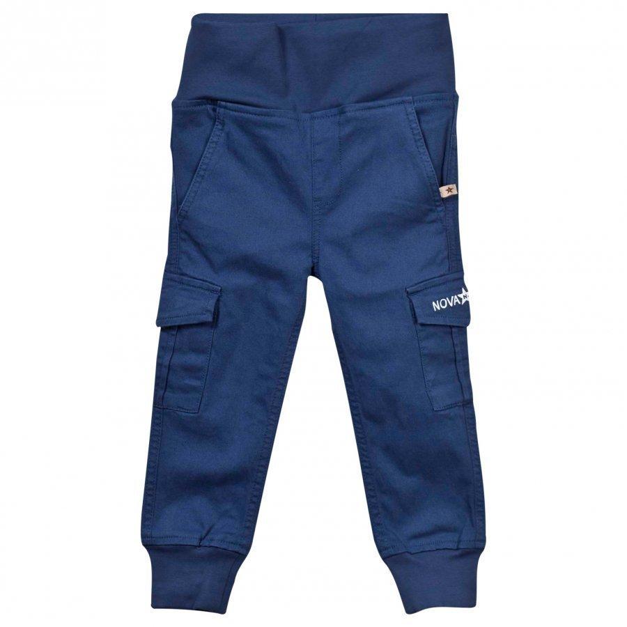 Nova Star Cargo Trousers Marine Blue Cargo Housut
