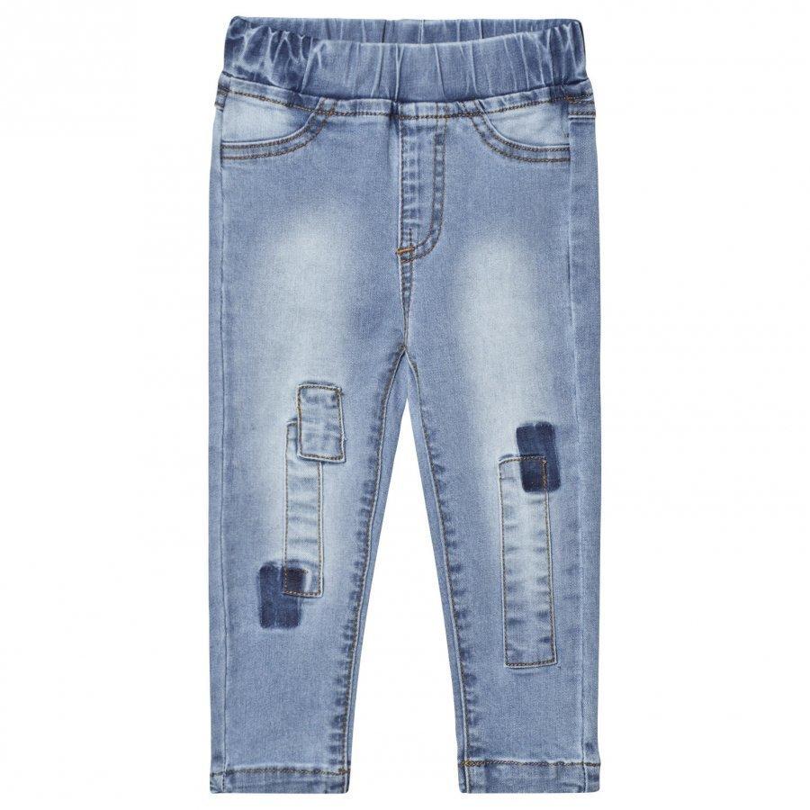 Nova Star Denim Pathed Slim Jeans Blue Farkut