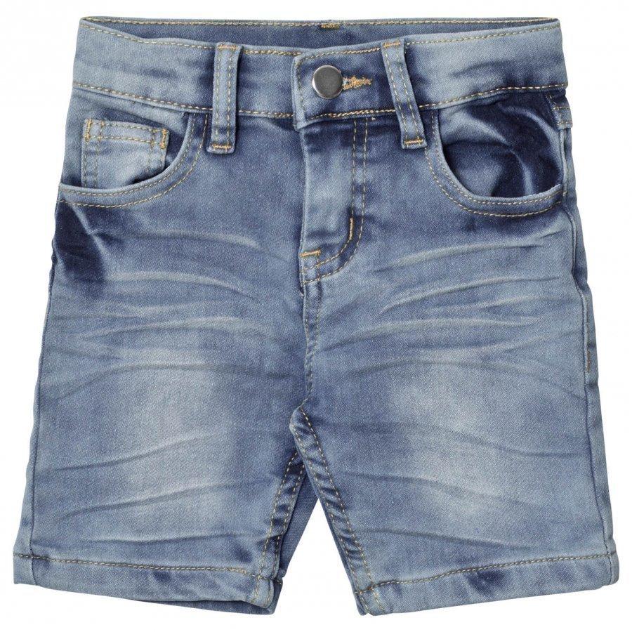 Nova Star Denim Slim Soft Shorts Blue Farkut