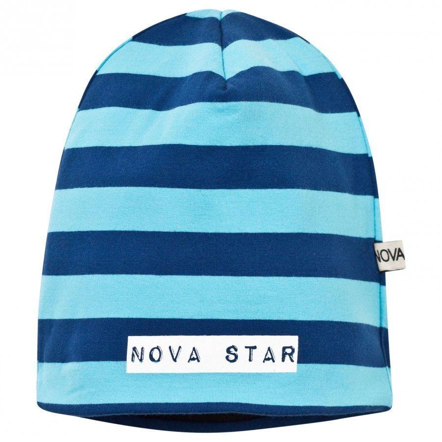 Nova Star Fleece Lined Beanie Striped Blue Pipo